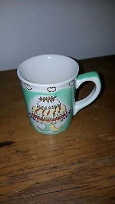 LAURA ASHLEY MUG cake and fruit design