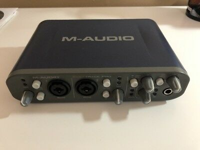 M-Audio Fast Track Pro Digital Recording Interface Blue, excellent condition