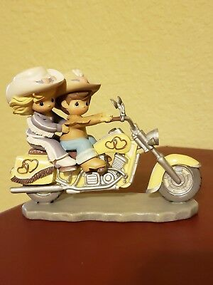 Precious Moments Motorcycle TWO for the road SHARING HAPPY TRAILS WITH YOU