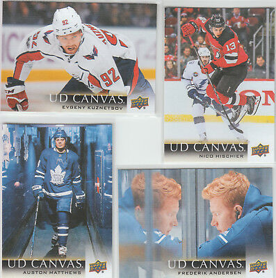 2018-19 Upper Deck Series One NHL Canvas Inserts YOU PICK! Finish Your Set!