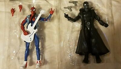 Marvel Legends Spider-Man Lizard Wave Spider punk and Spider Man Noir Loose