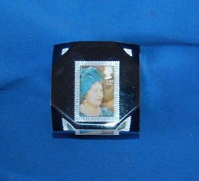 Collectable commemorative   Queen Mother stamp paperweight