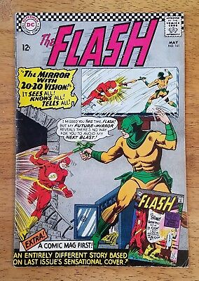 The FLASH #161 DC Comics 1966 Silver-Age Mirror Master Appearance
