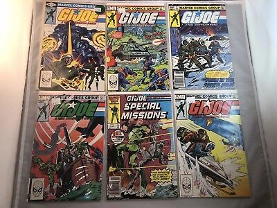 GI Joe Comic Book Lot 1980s A Real American Hero VF+
