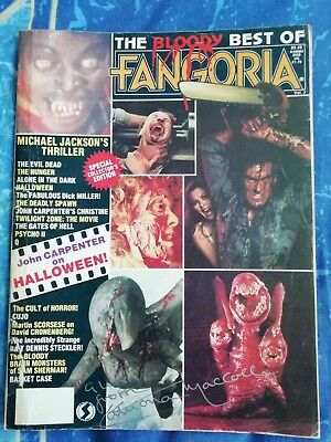 The Bloody Best Of Fangoria Vintage Horror Magazine Signed By Catriona MacColl