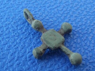 Viking Ancient Cross Pendant C.10th-11th Century AD / Medieval Relic.