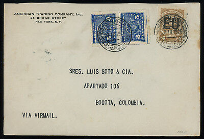 Colombia 1925 SCADTA cover bearing the 60c brown ovptd. EU, SC CLEU56, cat. $125