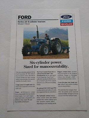 Ford New Holland 7810 Force II tractor brochure Thailand c.1986
