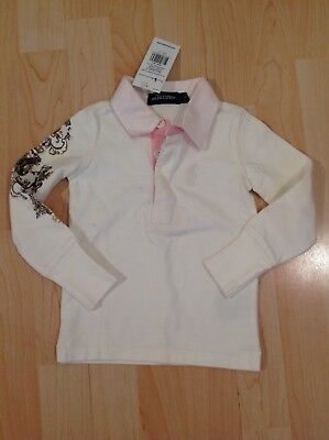 Polo Ralph Lauren Girl's Cream Rugby Shirt For 2 Years BNWT
