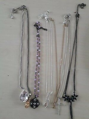 A Job Lot Of Costume Jewellery Necklaces All Used