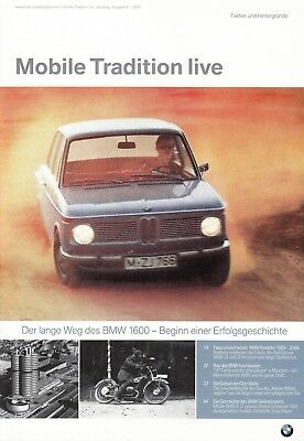 BMW MOBILE TRADITION LIVE Roadster History 1600 Prospekt Brochure 2006 67