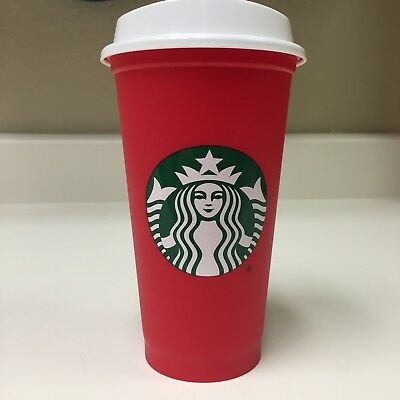 Starbucks Red Reusable 16oz Grande Christmas Holiday 2018 Cup RARE