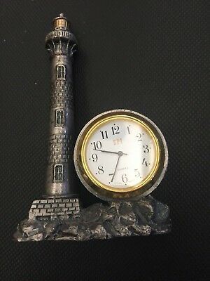 Lighthouse Clock- battery operated quartz SPI - metal