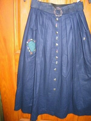 Lot-Two Women's Traditional German Trachten Skirts (Bavarian) with Blouse