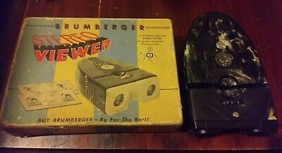 YELLOW MARBLED BRUMBERGER STEREO VIEWER.    Tested and Working!