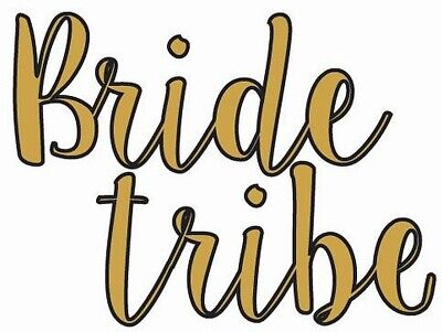 Bride Tribe 10 Gold Hens Party Temporary Tattoos Sticker Hens Metallic Tattoos