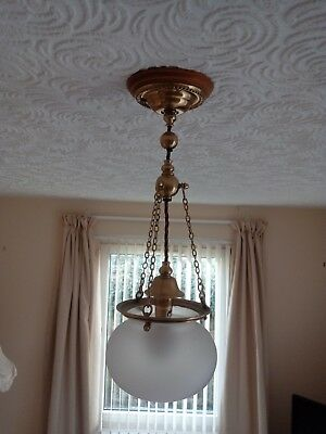 Pair Of Arts And Crafts Hanging Lamps