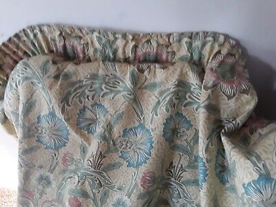 A Lovely Vintage Pair Handmade Morris & Co Lined Cottage Curtains Corncockle