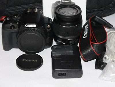 CANON 100D+CANON 18-55mm 3.5-5.6 IS+EXTRAS,PERFECTA (MINT CONDITION)