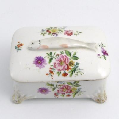 Victorian Porcelain Sardine Box And Cover