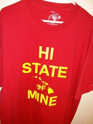 "T&C Town Country © ""HI State of Mine"" Hawaii Hawaiian XXL 2XL Red T-Shirt • EUC"