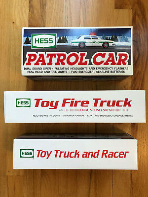 Hess Toy Trucks Lot Of 3,  Mint, New In Boxes, 1988, 1989, 1993 (Never Opened)