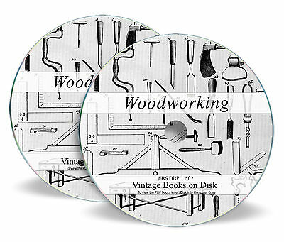 13,500 Woodworking Plans Designs Books on 2  DVDs - Rare Carpentry Magazines  B6