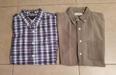 Lot of 2 American Eagle Outfitters Men's Casual Button Down Shirts in size M