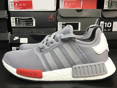 best cheap c26ca fa2e5 ADIDAS NMD R1 Light Onix Size 11 Grey Red White Boost
