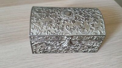 silver plated ring/trinket box