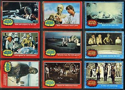 1977 Vintage Star Wars Trading Cards Series 1-2-3-4 Lot of 47 Different Cards