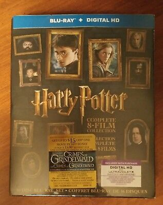 Harry Potter New/Sealed 16 Blue Ray Disc Complete 8-Film Box Set + Digital HD TV