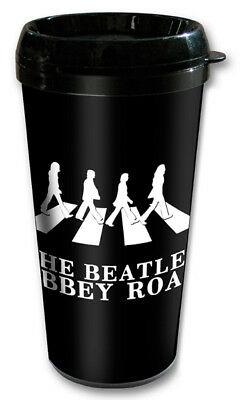 New The Beatles Abbey Road Classic Rock Official Boxed Insulated Travel Mug