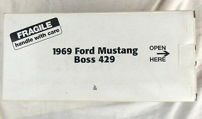 Vintage Danbury Mint Black 1969 Ford Mustang Boss 429 with Box 1/24th Scale