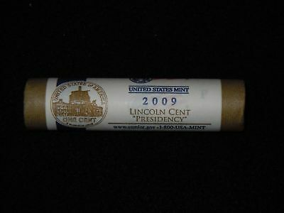 """2009  P   Lincoln  Cents   LP4   """"  Presidency  """"  Mint  Uncirculated  Roll"""