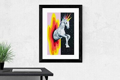 "OKUDA ""Jumping To Another Dimension"" w/ COA edition of 100 SIGNED Print Art 2018"