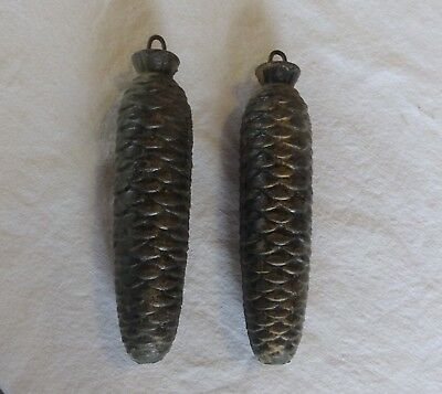 2 Large Vintage Cuckoo Clock Pine Cone Weights