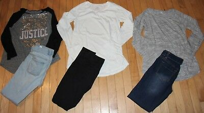 Girls size14-16 pant/shirt lot JUSTICE, OLD NAVY