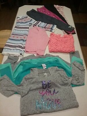 11 Pc Lot Girls 6/6X Winter Clothes Leggings Sweater Dress Long Sleeves