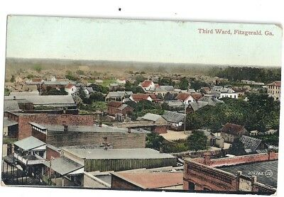Fitzgeral, Ga: 1911: Birdseye View Of The Third Ward