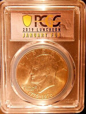 2019 Pcgs Fun Souvenir Slab*bicentennial Eisenhower $1 Type 2 Ms65*true Auction