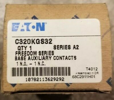 New Eaton Cutler Hammer Freedom Series C320KGS32 1NO/1NC Base Auxiliary Contact