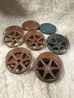 VTG LOT 7 SUPER 8mm HOME Metal REELS Cans 50-60s Family Vacation