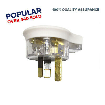 3 Pin Plug Top 10 amp side flat entry Extension Plug clear electrical accessorie