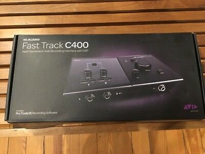 M-Audio Fast Track C400 USB Audio Interface with Pro Tools SE great condition