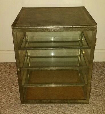 Vintage General Store Bakery Countertop Pie Safe Display Case Showcase Stand