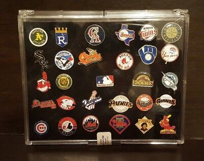Official MLB Baseball Pin Set of 29 Pins with Case Limited Edition-New Sealed!