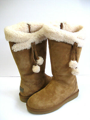 f1a2712f64f UGG PLUMDALE CUFF Tall Boots Chestnut Brown Suede -Us Size 8 -New ...