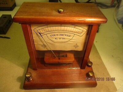 Very Early K & D Volt-Meter from Turn Of The Century Era 1900's