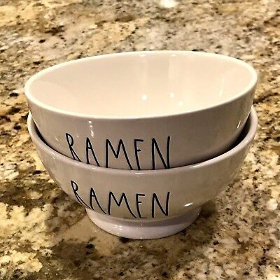 Rae Dunn by Magenta RAMEN Cereal Bowl Set of 2 Brand New